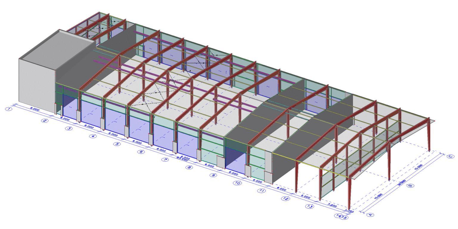 K1024_16-142 Auer Matrei_Strukturmodell mit Hülle_vor Bemessung_v0